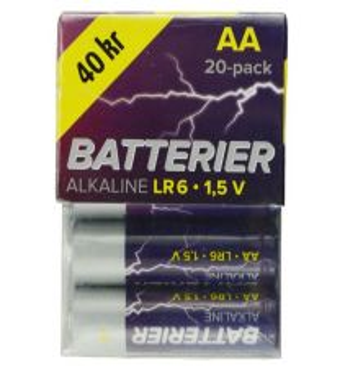 BATTERI LR06/AA 20 ST