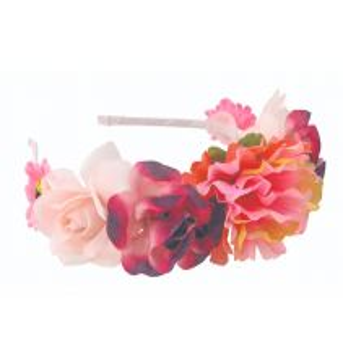 Diadem Blommor Rosa
