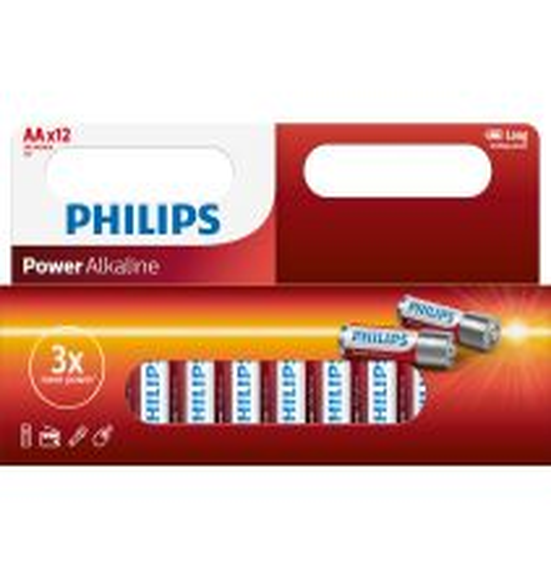 PHILIPS POWER ALKALINE LR06 AA, 12-PACK
