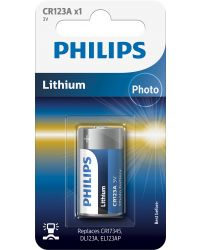 PHILIPS FOTOBATTERI CR123, 1ST