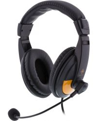 DELTACO GAMINGSTEREO GAMING HEADSET, 2X 3,5 MM, SVART/ORANGE