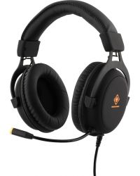 DELTACO GAMING STEREO GAMING HEADSET, 57 MM ELEMENT, LED-BELYSNING