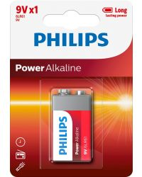 PHILIPS POWER ALKALINE 6LR61 9V, 1ST