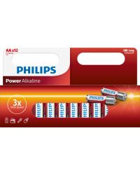 PHILIPS POWER ALKALINE LR06 AA, 12-PACK