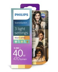 PHILIPS LED SCENESWITCH 40W B38 E14