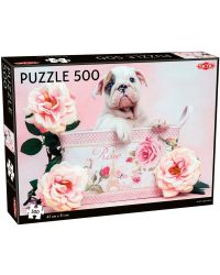 PUSSEL 500 BITAR PUPPY AND ROSES