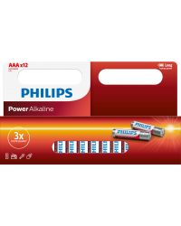 PHILIPS POWER ALKALINE LR03 AAA, 12-PACK
