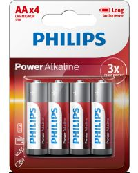 PHILIPS POWER ALKALINE LR06 AA , 4-PACK