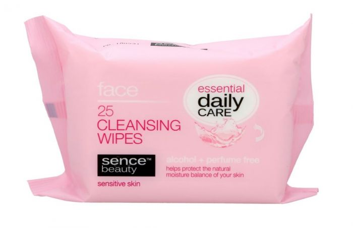 SENCEBEAUTY FACIAL CLEANING WIPES 25 ST SENSTIVE