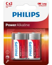 PHILIPS POWERL ALKALINE LR14 C, 2-PACK